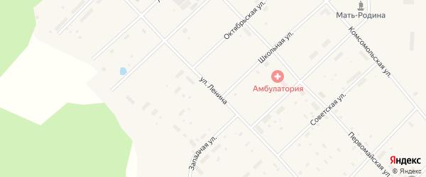 Улица Ленина на карте поселка Пуксоозеро с номерами домов