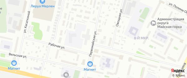Первомайская улица на карте Архангельска с номерами домов