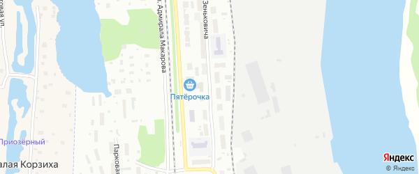 Улица Зеньковича на карте Архангельска с номерами домов