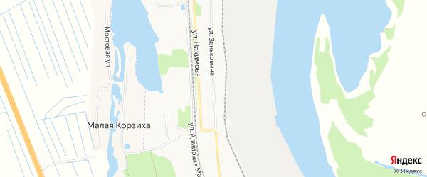 ГСК Портовик на карте улицы Зеньковича с номерами домов