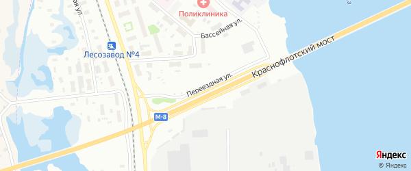 Переездная улица на карте Архангельска с номерами домов