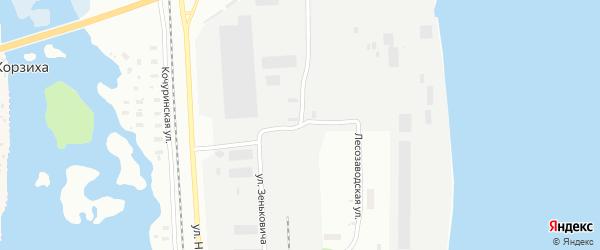 Лесозаводская улица на карте Архангельска с номерами домов