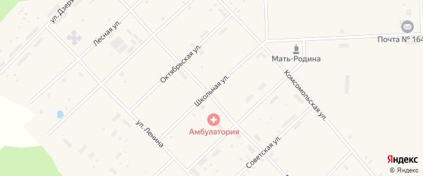Школьная улица на карте поселка Пуксоозеро с номерами домов