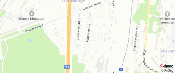 1-я линия на карте Архангельска с номерами домов