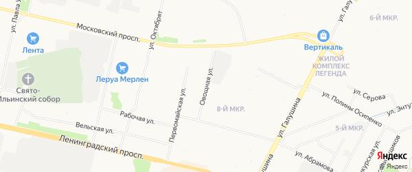 Майский ГСК на карте Овощной улицы с номерами домов