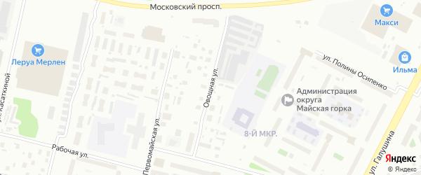 Овощная улица на карте Архангельска с номерами домов
