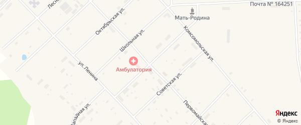 Пионерская улица на карте поселка Пуксоозеро с номерами домов