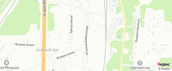 Железнодорожная улица на карте Архангельска с номерами домов