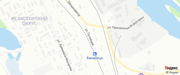 Улица Путейцев на карте Архангельска с номерами домов