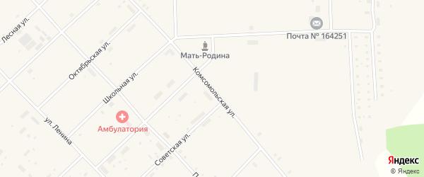 Комсомольская улица на карте поселка Пуксоозеро с номерами домов