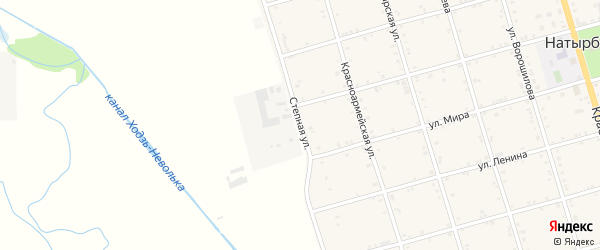 Степная улица на карте села Натырбово с номерами домов