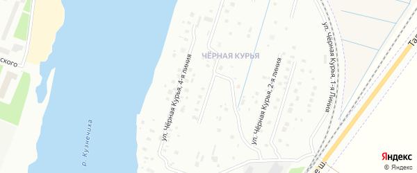 Чёрная Курья 4-я линия на карте Архангельска с номерами домов