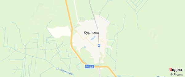Карта Курлово с районами, улицами и номерами домов