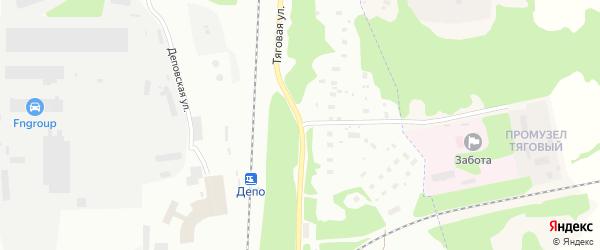Тяговая улица на карте Архангельска с номерами домов