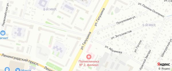 Улица Федора Абрамова на карте Архангельска с номерами домов