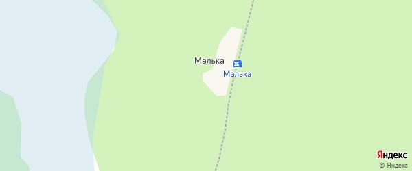 Карта поселка Мальки в Архангельской области с улицами и номерами домов