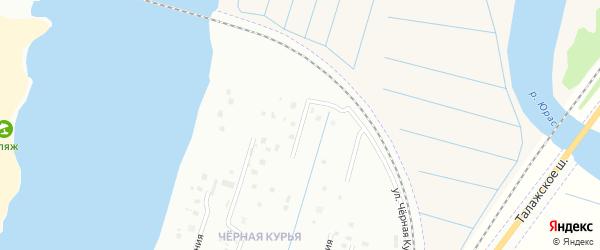 Чёрная Курья 3-я линия на карте Архангельска с номерами домов
