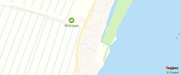 Береговая улица на карте Повракульской деревни с номерами домов