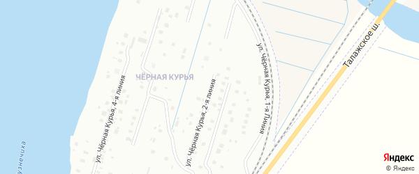 2-я линия на карте Архангельска с номерами домов