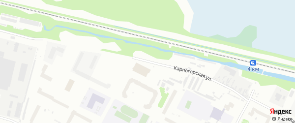 Карпогорская улица на карте Архангельска с номерами домов