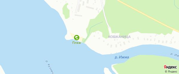 Мудьюгская улица на карте Архангельска с номерами домов