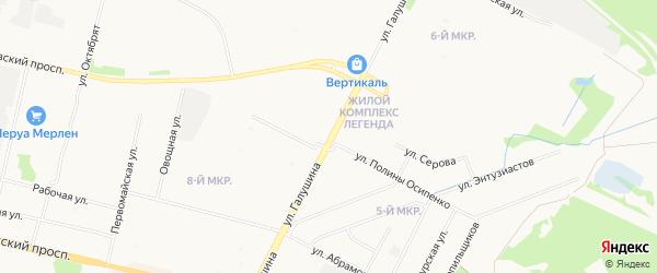 ГСК Московский-3 на карте улицы Прокопия Галушина с номерами домов