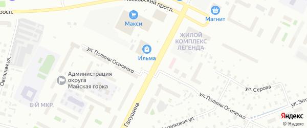 Улица Прокопия Галушина на карте Архангельска с номерами домов