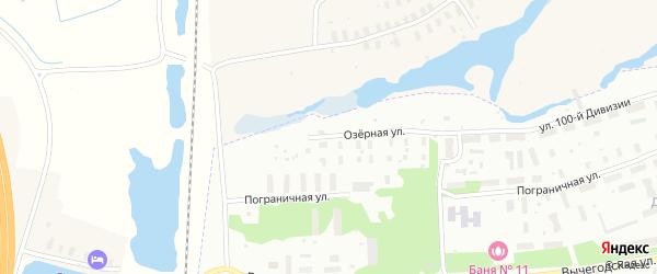 Озерная улица на карте Архангельска с номерами домов