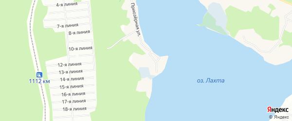 Карта деревни Лахты в Архангельской области с улицами и номерами домов