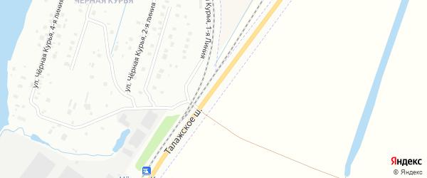 Талажское шоссе на карте Архангельска с номерами домов