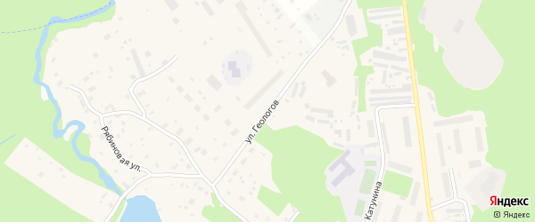 Улица Геологов на карте деревни Лахты с номерами домов