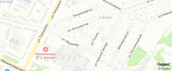 Улица Садовая поляна на карте Архангельска с номерами домов