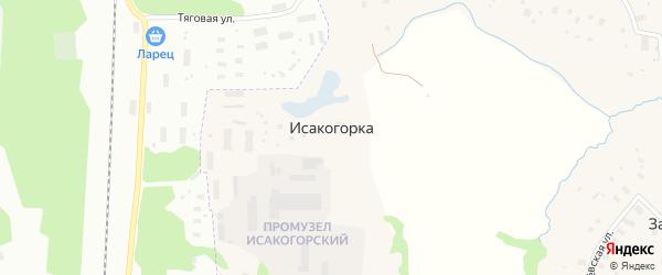 Нагорная улица на карте деревни Исакогорки с номерами домов