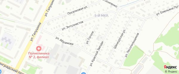 Улица Гоголя на карте Архангельска с номерами домов