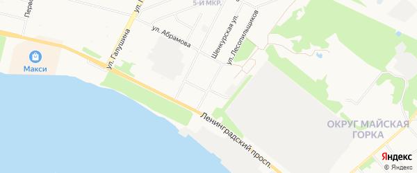 ГСК Строитель на карте Кооперативной улицы с номерами домов