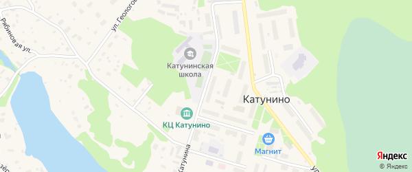 Улица Катунина на карте поселка Катунино с номерами домов