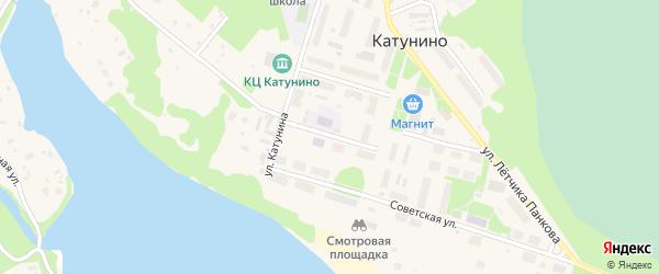 Улица Стрельцова на карте поселка Катунино с номерами домов