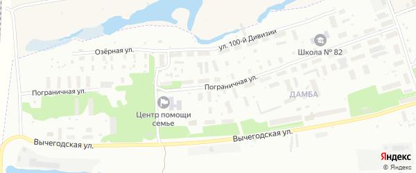 Пограничная улица на карте Архангельска с номерами домов