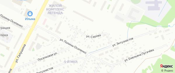 Улица Серова на карте Архангельска с номерами домов
