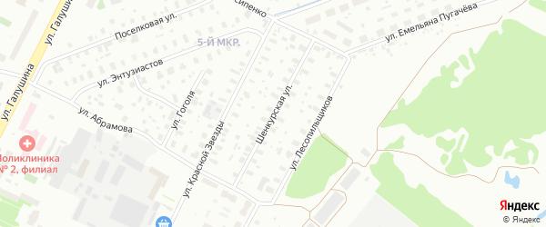 Шенкурская улица на карте Архангельска с номерами домов