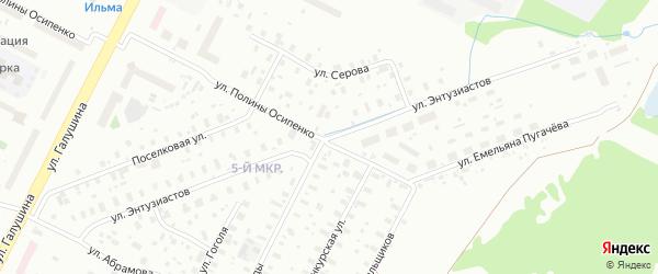 Улица Энтузиастов на карте Архангельска с номерами домов