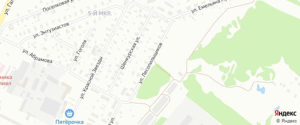 Улица Лесопильщиков на карте Архангельска с номерами домов