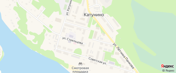 Улица Маркина на карте поселка Катунино с номерами домов