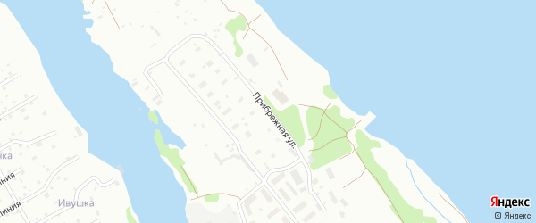 Прибрежная улица на карте Архангельска с номерами домов