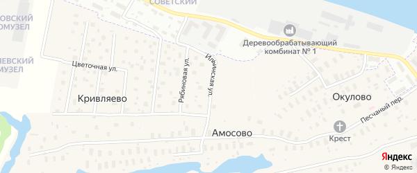 Ильинская улица на карте деревни Кривляево с номерами домов