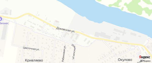 Доковская улица на карте Архангельска с номерами домов