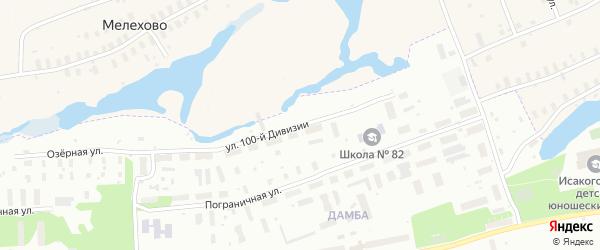 Улица 100-й дивизии на карте Архангельска с номерами домов