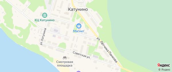 Матросская улица на карте поселка Катунино с номерами домов