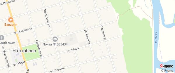 Улица Фрунзе на карте села Натырбово с номерами домов