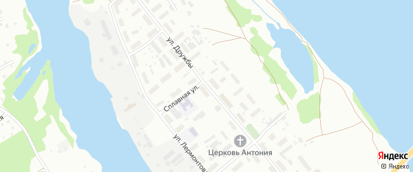 Улица Дружбы на карте Архангельска с номерами домов
